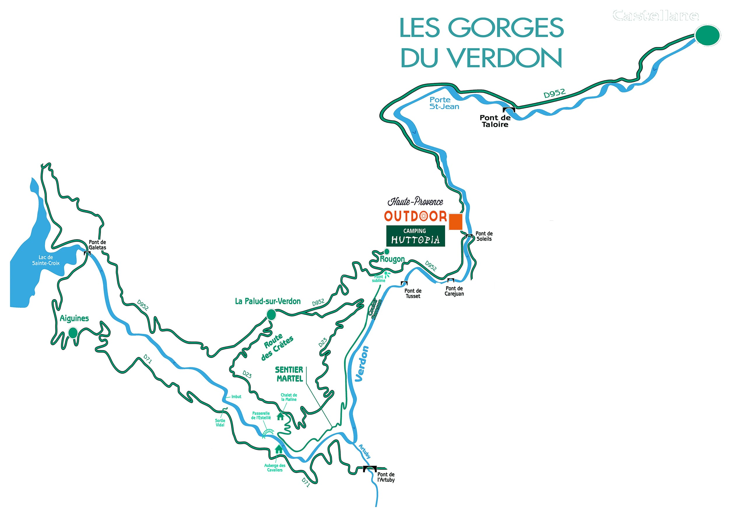 complete map of the middle verdon